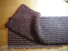 Alpaca two-color brioche stitch scarf - a holiday gift!
