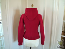 L'il Red Riding Hoodie rear view