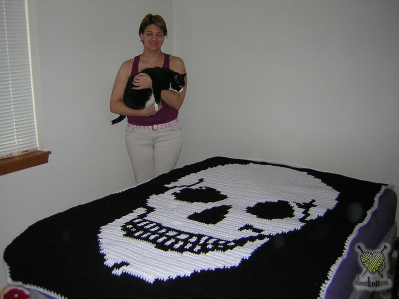 All Free Crochet Crochet Men s Skull Scarf Pattern : KNITTING PATTERNS SKULL FREE PATTERNS