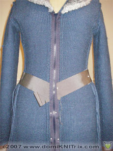 Zhivago sweater coat inside out