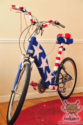 Wonder Woman Suit And Knit Stars And Stripes Bicycle Cozy